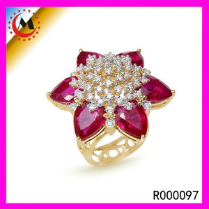 WHOLESALE BIG SIZE CHUNKY FLOWER RINGS COSTUME JEWELRY DESIGNS