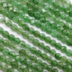 Factory price of green aventurine stone faceted round plate beads