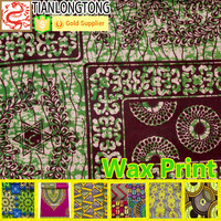 Popular fashion wax print batik Polyester Cotton african fabric online wholesale