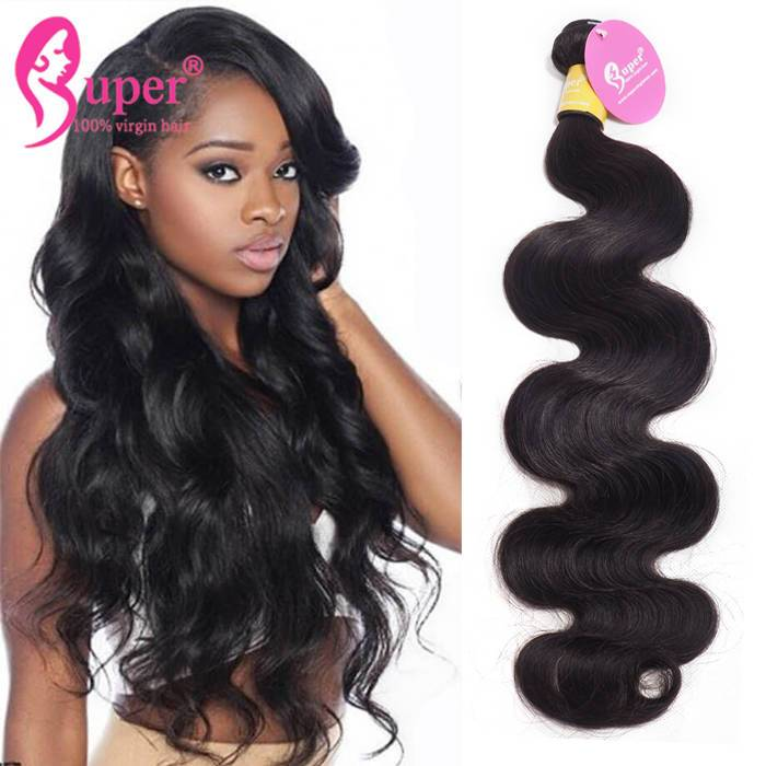 Drop Ship Double Wefted Unprocessed Real Brazilian Weave Body Wave Virgin Hair 22 Inch