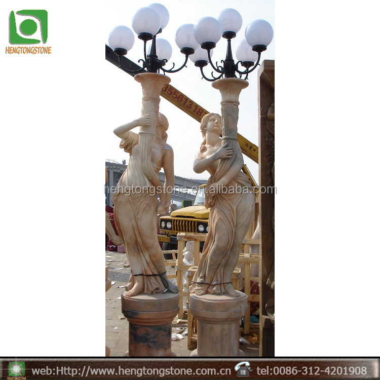 Marble Garden Lamps And Lanterns Statues