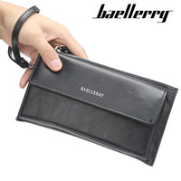Baellerry official travel mens clutch wallet cellphone purse with strap