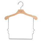Baby Clothes Baby Coat Hangers 2020 Custom LOGO Hot Sale Long Bottom Wire Special Body Design Natural Wooden Kids Infant Baby Coat Suit Clothes Hanger