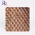 304 stainless steel 3d patterned sheet decorative wall panels rose gold stamping stainless steel plate