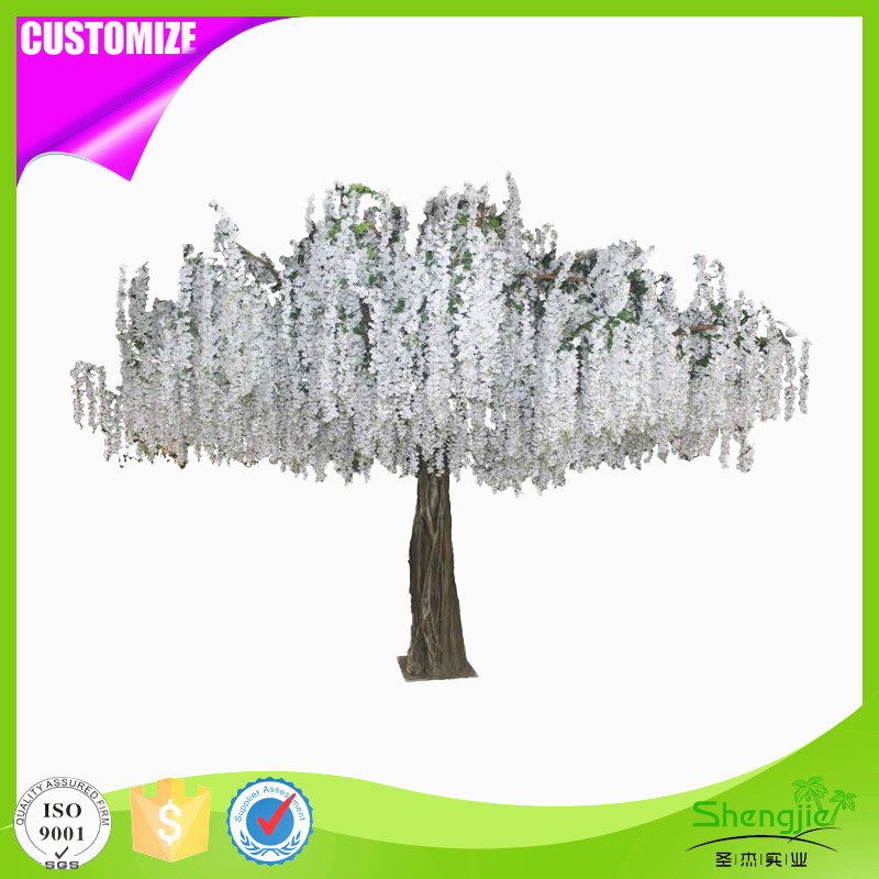High quality white false artificial silk wisteria flower tree for wedding bouquets