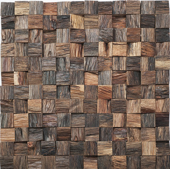 40d Effect Wood Mosaic TileInterior Wood TileHigh Quality Solid Simple Decorative Wood Wall Tiles