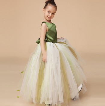 f86ca671b3a NEW Lace Tulle TUTU Flower Girl Dress Wedding Easter Junior Bridesmaid Dress  2 piece flower tutu