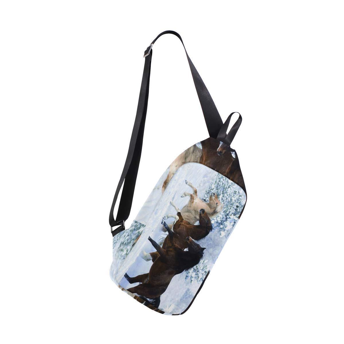 c486f32294 Get Quotations · Horse Pattern Print Chest Sling Bag Shoulder Backpack  Crossbody Daypack