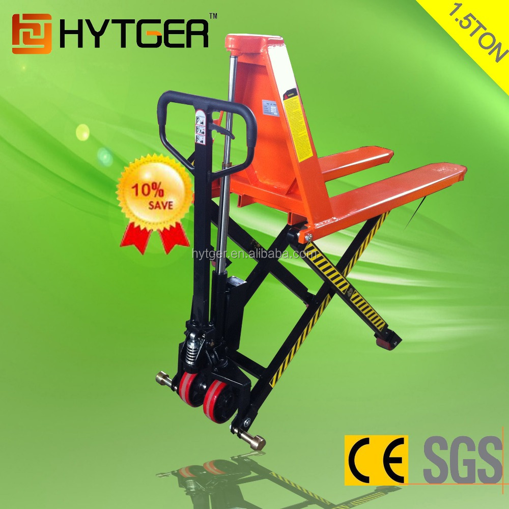 1500 Kg Hot Selling Double Wheels Quick High Lift Pallet Jack