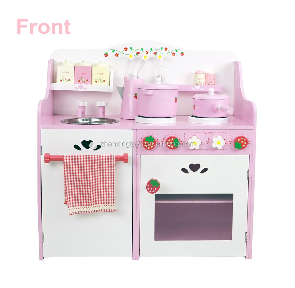 Wooden Japanese Strawberry Kids Pretend Food Play Kitchen Toy Set ...