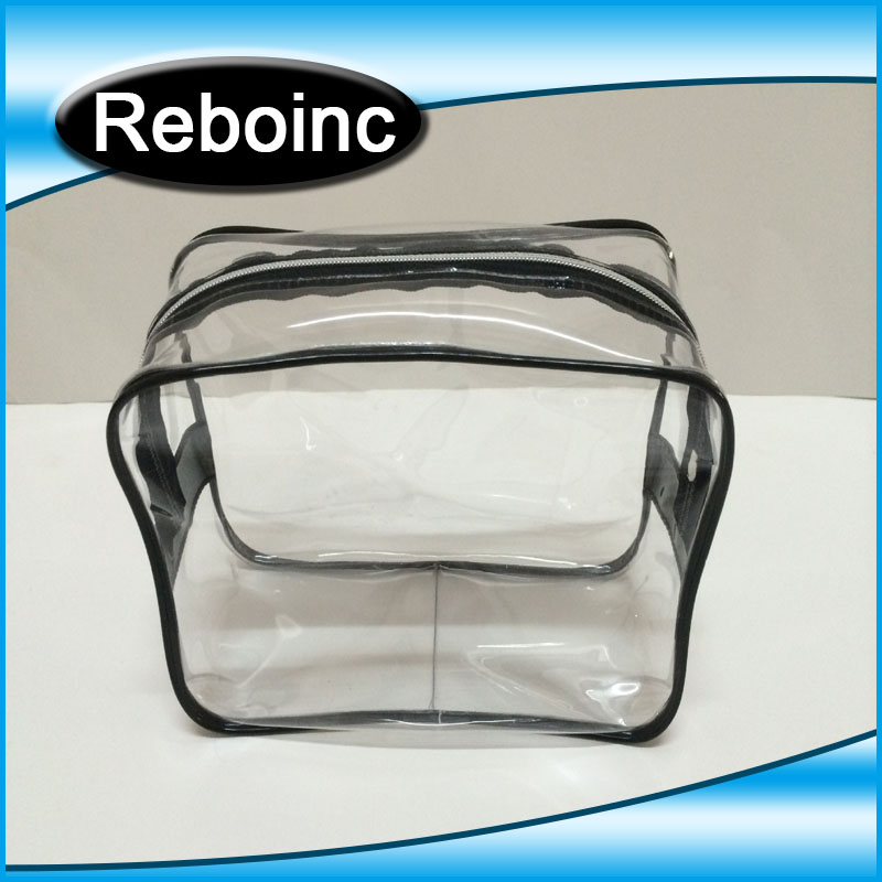 Two Assorments Clear PVC Easy Take Away Make Up Hand Bag XYL-D-C414