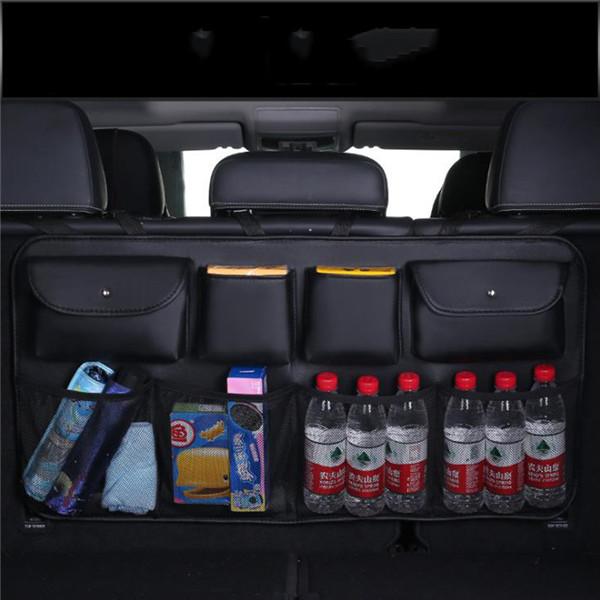 O SHI Автомобильная искусственная кожа автомобильная Задняя сумка для хранения на спинку сиденья многофункциональная автомобильная сумка-О...(Китай)