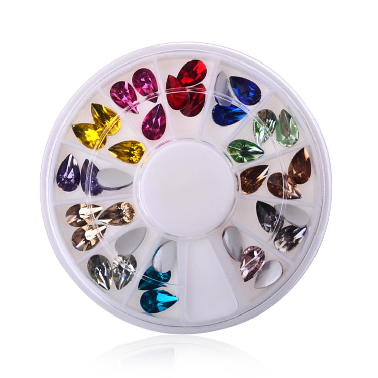 Water Drop 12colors 3d nail art bijoux ongles strass ongles decoracion de unas nail glitter decorazioni