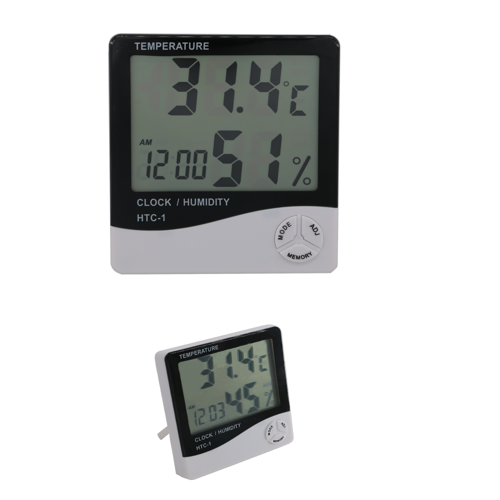 LCD Thermostat Digital Wireless Channel Indoor and Outdoor Humidity Thermometer