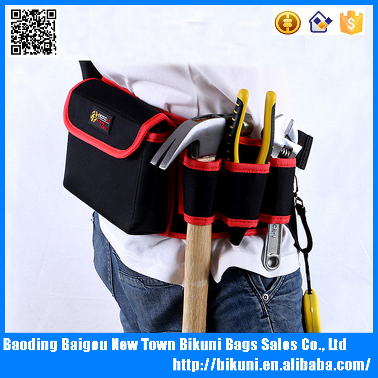 Multifunction wholesale custom oxford waist bag tool bag with factory price
