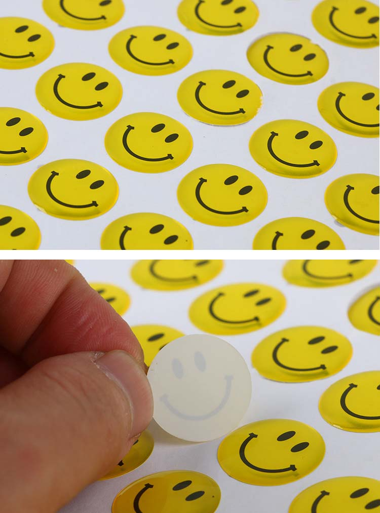 Art Decorative Fashion Kids Resin Clear Printing Epoxy Resin Sticker,Custom 3D Epoxy Dome Sticker