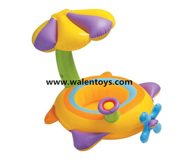 Inflatable Toddler Baby Swim Ring Float Seat Swimming Pool Seat with Canopy  sc 1 st  Alibaba & Inflatable Toddler Baby Swim Ring Float Seat Swimming Pool Seat ...