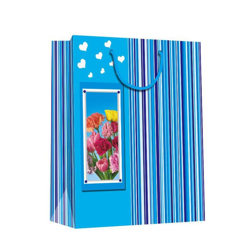 Wholesale Handmade Elegant Printing Pink Decorative Door Paper Gift Bags For Shopping