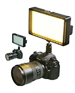 ePhoto Professional LED Light 312 LED Bi-Color Changing Dimmable LED Video DSLR Camera Light Panel LED312