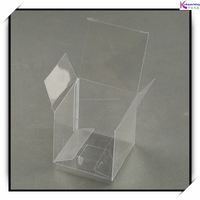 Custom PVC foldable clear plastic boxes