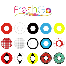 Freshgo Wholesale Yearly Cat Eye Manson Sharingan Crazy Lens Halloween Cosplay Contact Crazy Lens Cosmetic Crazy Lens