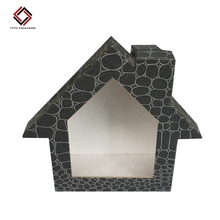 House Shaped Box With Logo Print House Shaped Box With Logo