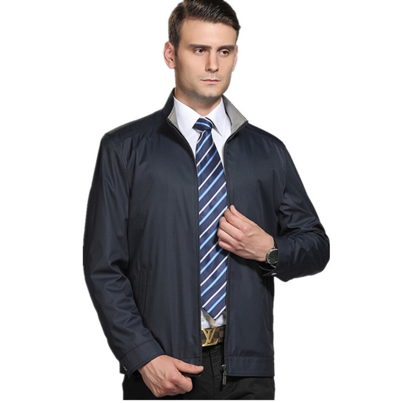b57dbf508cd Get Quotations · New Spring Autumn Men s Jackets Coat Male Business casual  Blazer Overcoat Male Stand Collar Zipper Outerwear
