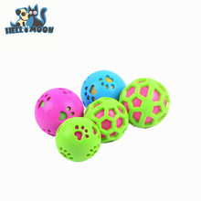 Mulicolour Grid Footprints Squeakly Hamster Ball For Dogs