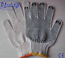 RL Safety PVC dotted cotton gloves knitted cotton gloveswith pvc dots/guantes de puntos de PVC 12
