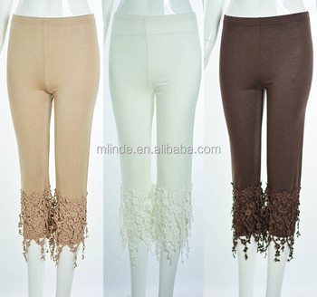 Womens Cream Colored Leggings
