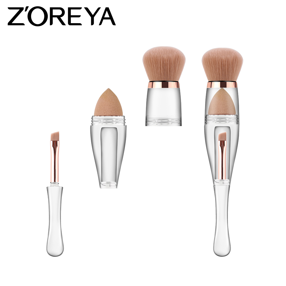 2019 Original 3 in 1 Individuelles Logo-Make-up-Pinsel Schönheits-Make-up-Tools Kosmetik-Grundpinsel