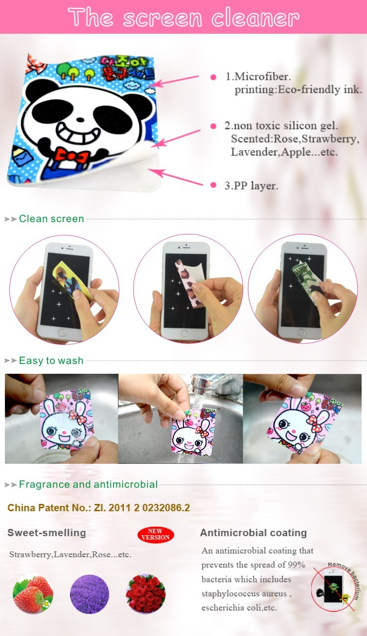 Non-toxic Smart Card Holder with Full Color Printed Cleaner 3M Adhesive Phone Pocket