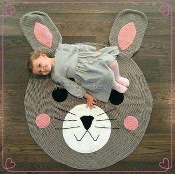 Großhandel Häkeln 100% Acryl Garn Bunny Muster Spielen Teppich Baby ...