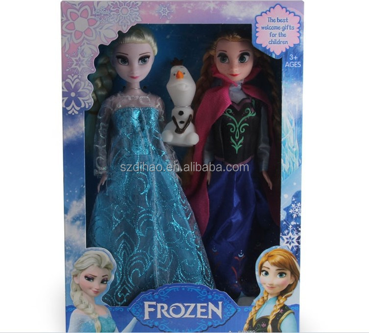 DIHAO New frozen <strong>doll</strong> 11.5inch elsa anna princess toys baby <strong>doll</strong> love <strong>doll</strong> barbie