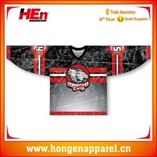 Hongen apparel Custom Full Sublimation Printing Unique International Ice Hockey Jerseys,Custom Made Ice Hockey Shirt