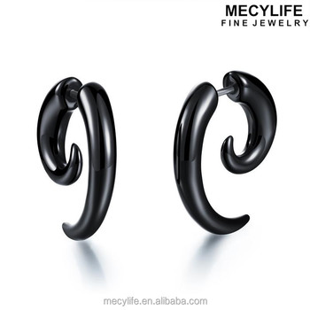 Mecylife Most Fashion Black Plastic Earrings Cute Snails Stud Earring