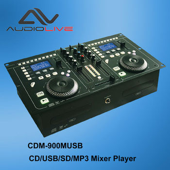 High quality CDM-900CM USB Dual CD SD Mp3 panel audio link  digital DJ Mixer Player