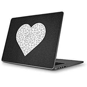 Love MacBook Pro 15 (2009&2010) Skin - Grey Leopard Heart Vinyl Decal Skin For Your MacBook Pro 15 (2009&2010)