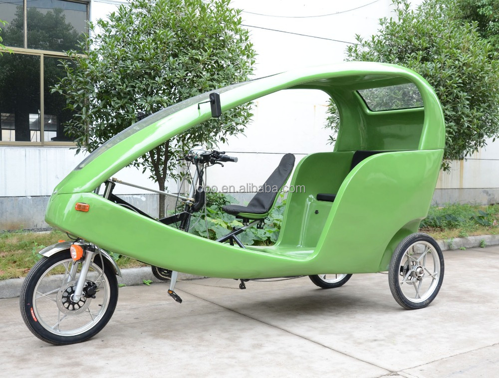 JOBO Touring Tricycle Rickshaw for Passenger,ELectric Pedicab, Advertising Velo Taxi