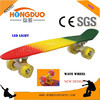 22 Inch Cruiser Skateboard Plastic fish Board with blank Deck and Smooth PU Casters for Kids Boys Youths Beginners