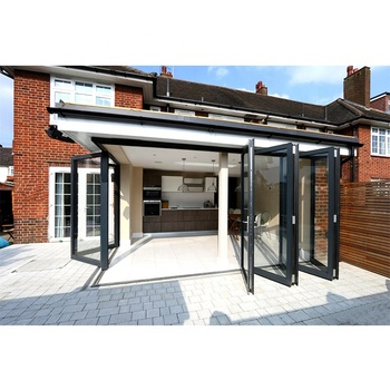 Hot selling glass bi folding door with 10 years warranty