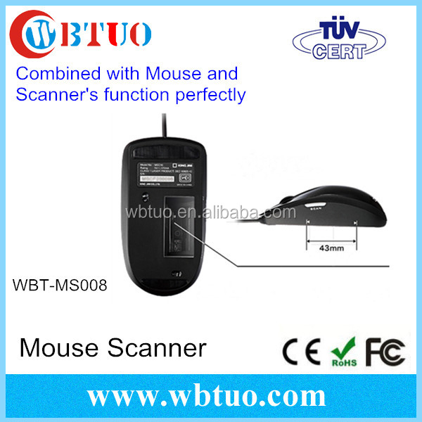 China supplier Portable A3 A4 OCR document USB Laser Mouse Scanner