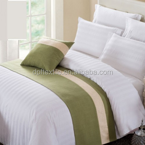 Star hotel Decorative imitation linen king size bed runner and cushion
