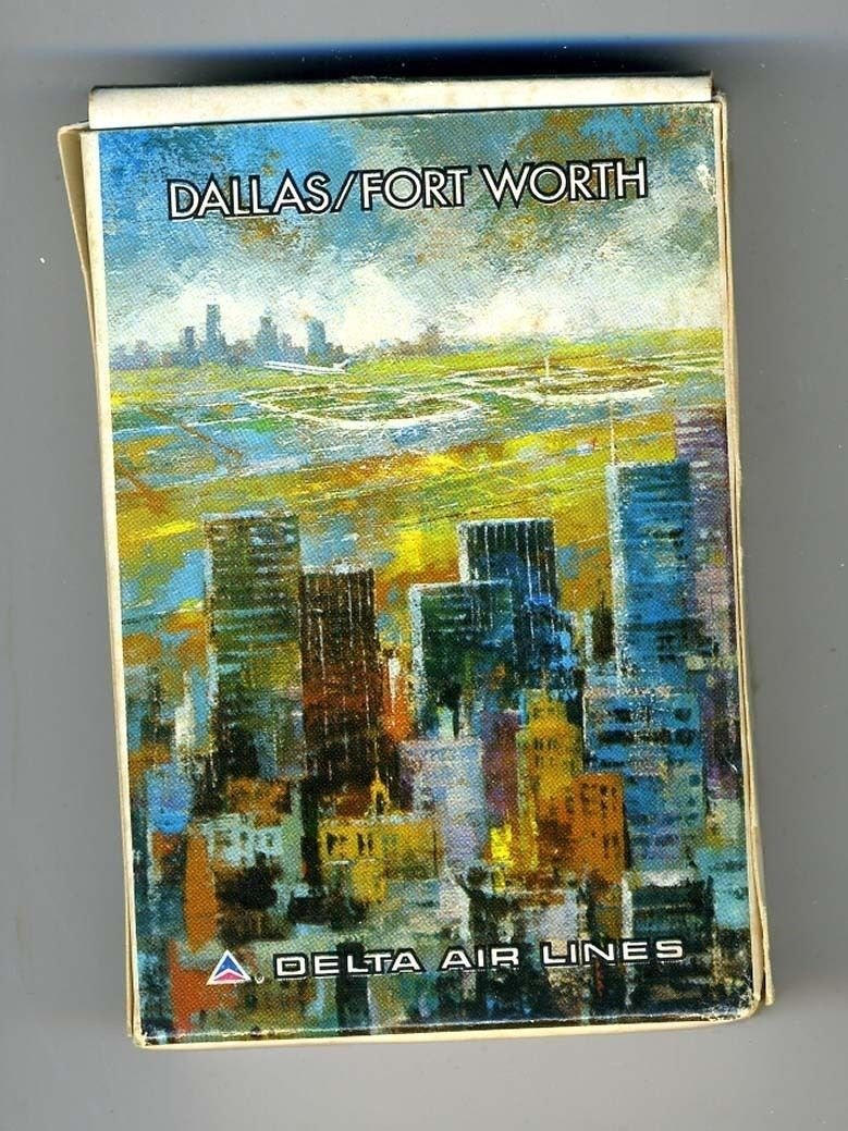 A Delta Air Lines DALLAS / FORT WORTH Deck of Playing Cards