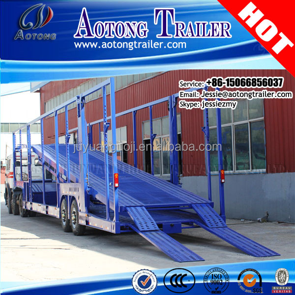 Double Floor car carrier trailer type Auto Car hauler trailer for 6-20 units cars or SUV transportation