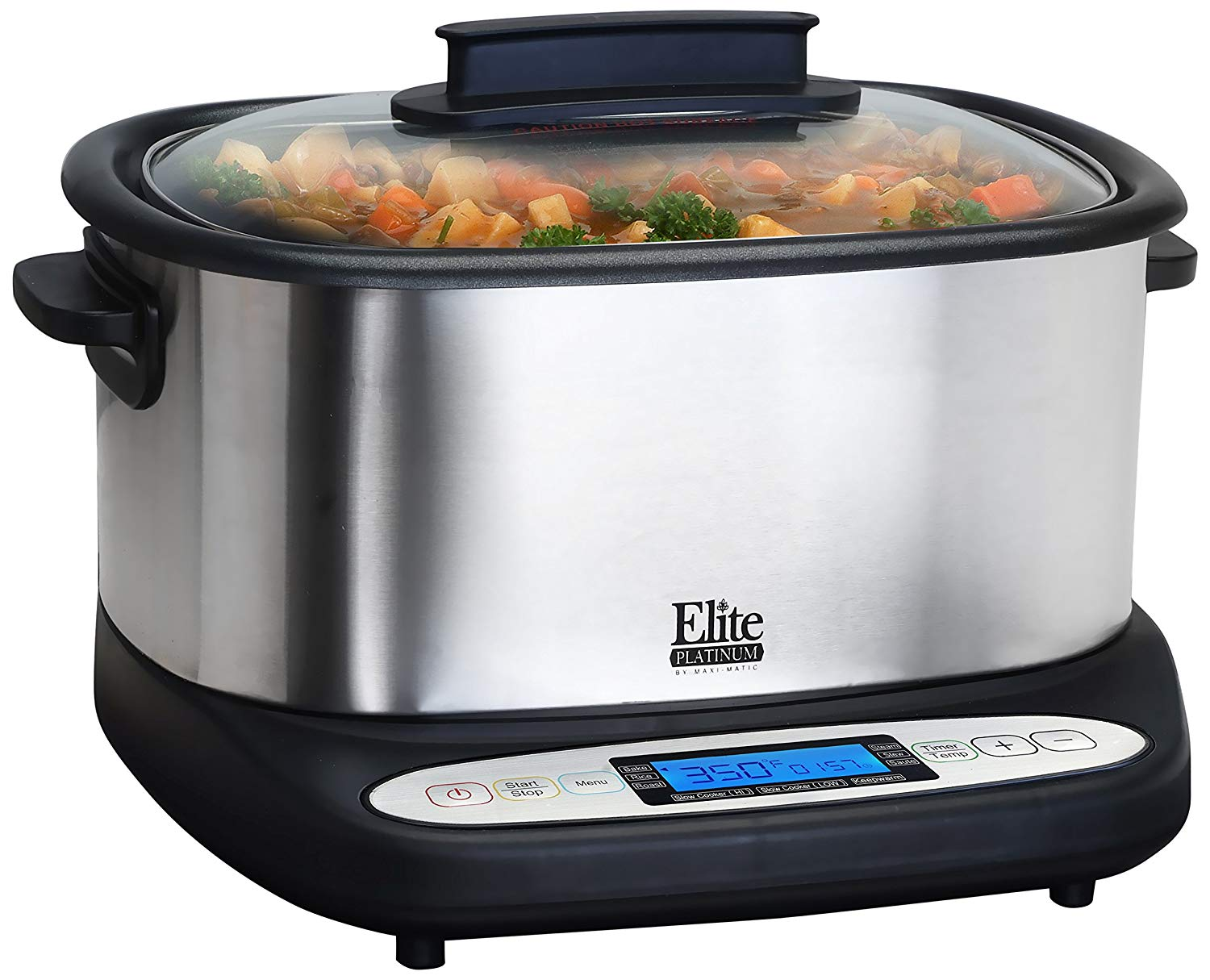 Elite Platinum MST-6805 Maxi-Matic 6 Quart 7-in-1 Infinity Non-Stick Multi-Cooker, Black