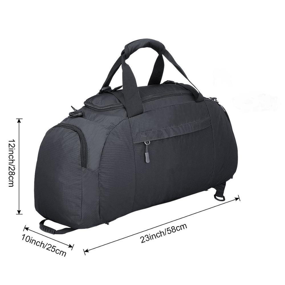 BSCI Factory Convertible Gym Bag, duffel bag with shoes and ball compartment (ESC-SB100)