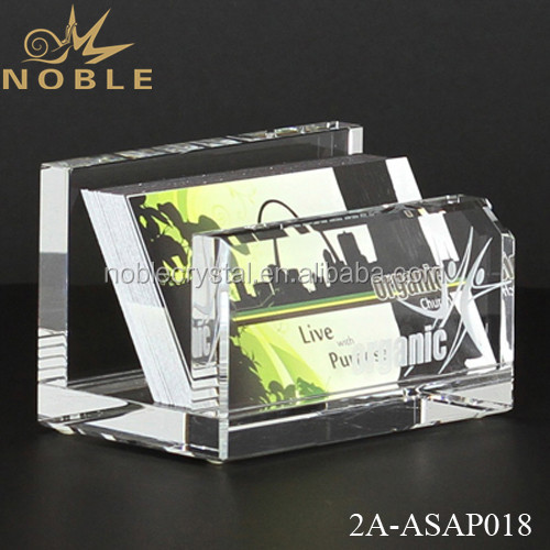 Personalize Crystal Business Card Holder As Gifts