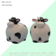 darling unglazed wholesale biscuit cow piggy bank