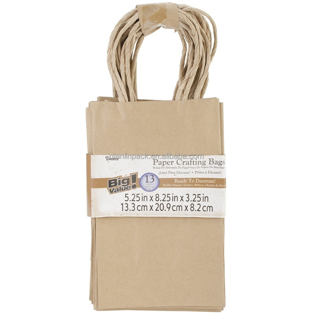Hot Sale Brown Kraft Paper Handle Gift Bags Food <strong>Packing</strong>